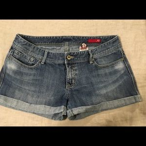 Women's size 12 cuffed jean shorts